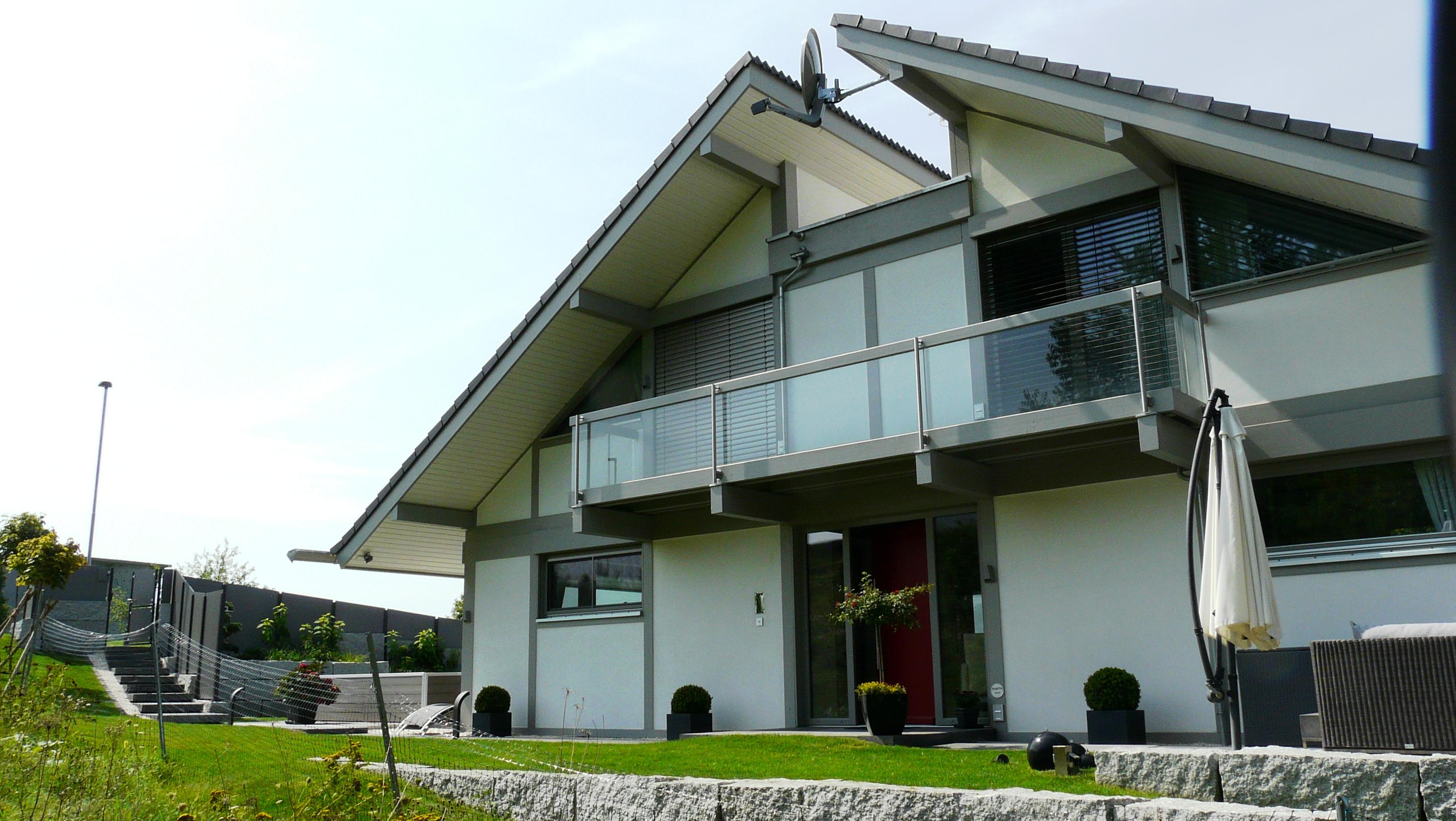Wohngarten modernes fachwerkhaus for Modernes fachwerkhaus